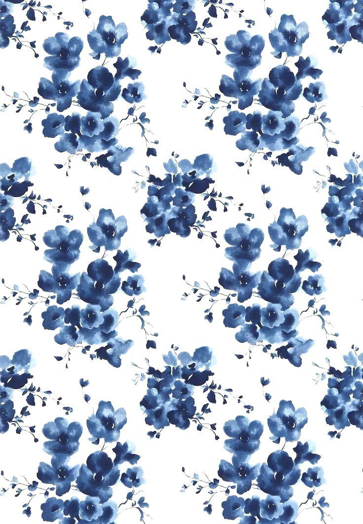 Blue Floral Wallpaper Watercolor Wallpaper Blue Floral - Blue Flowers Iphone Case , HD Wallpaper & Backgrounds