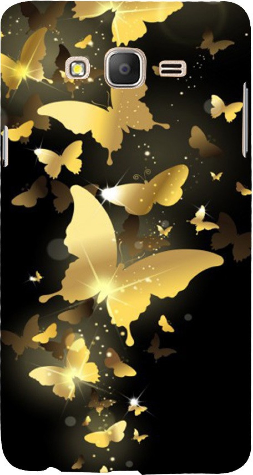 Printmasti Back Cover For Samsung On5 Pro Golden Colour