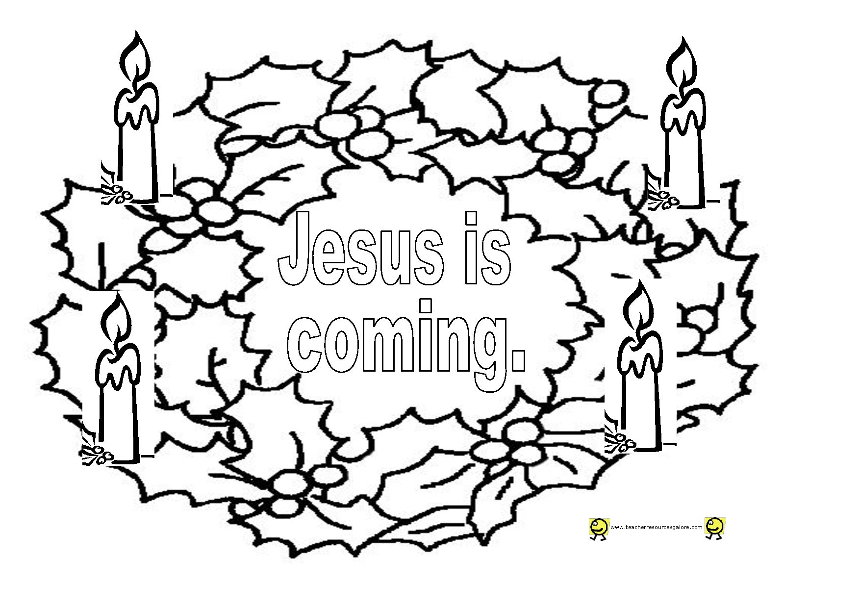 - Profitable Advent Wreath Coloring Page With Wallpaper - Drawings
