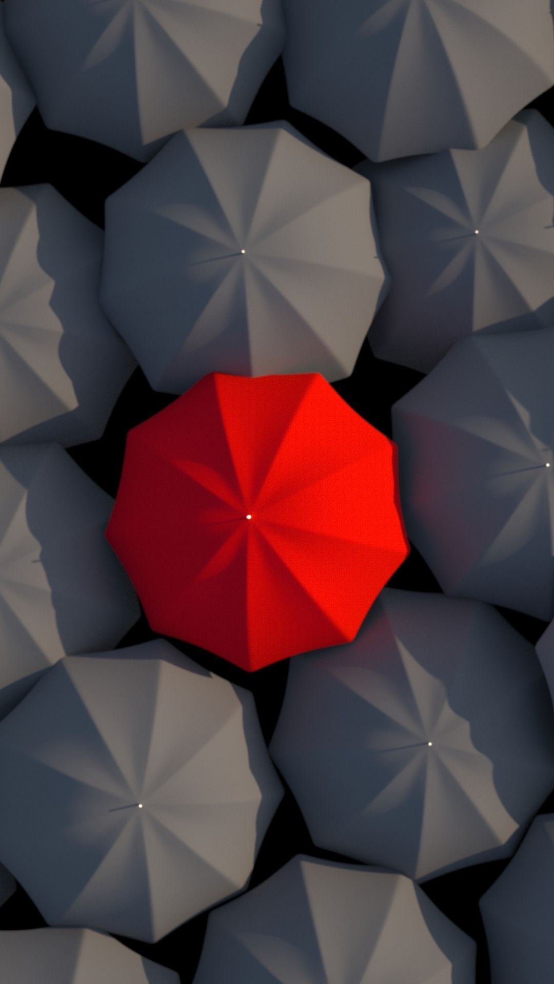 Umbrellas 3d Red Gray 3d Wallpapers For Iphone 7 Plus 847817