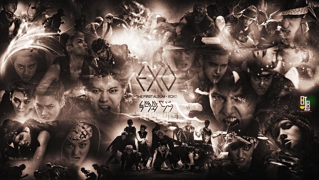 Exo Wolf Cool Hd Wallpaper Exo Logo Wallpaper Wolf
