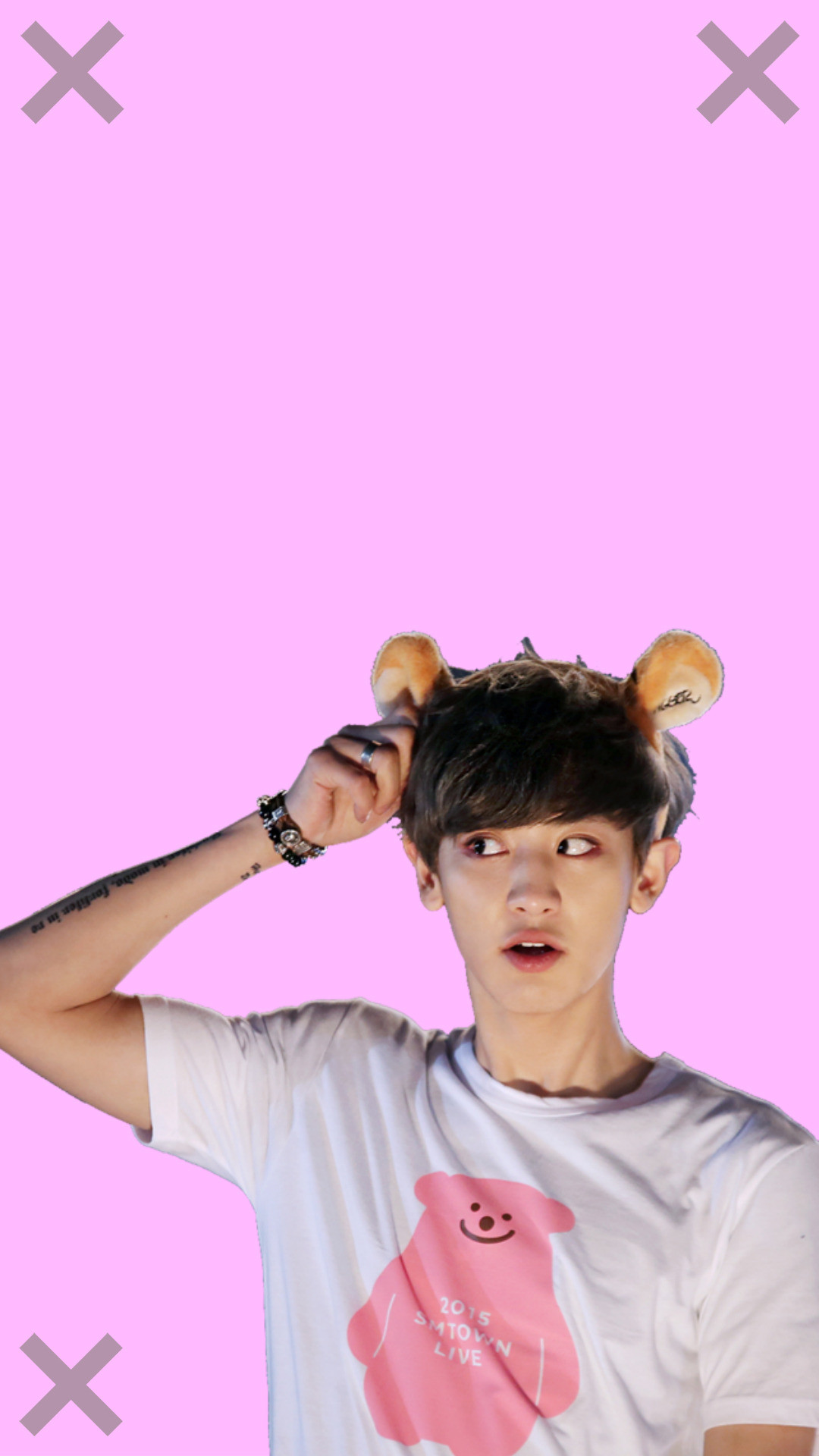 Exo Chanyeol Park Chanyeol Exo Wallpaper Exo Lockscreen - Kpop Stickers Exo Chanyeol , HD Wallpaper & Backgrounds