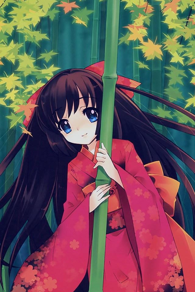 Aq47 Anime Girl Japan Art Cute Illustraion Wallpaper - Iphone Japaness Cartoon , HD Wallpaper & Backgrounds