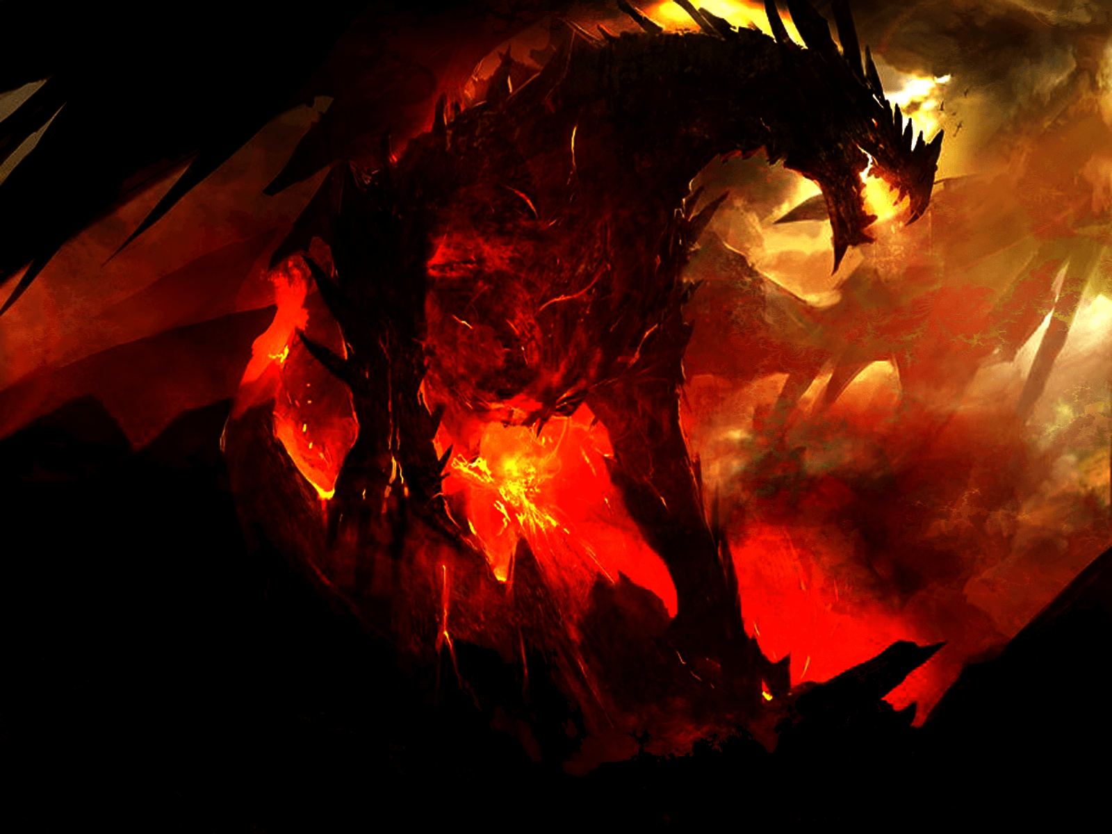 Red And Black Dragon Wallpaper Red And Black Dragon 851312