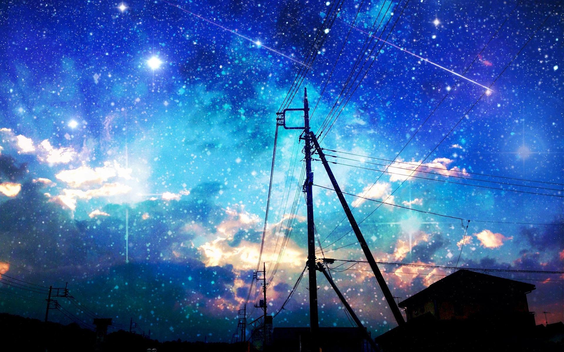 Starry Sky Wallpaper Anime Starry Sky Background 852131 Hd