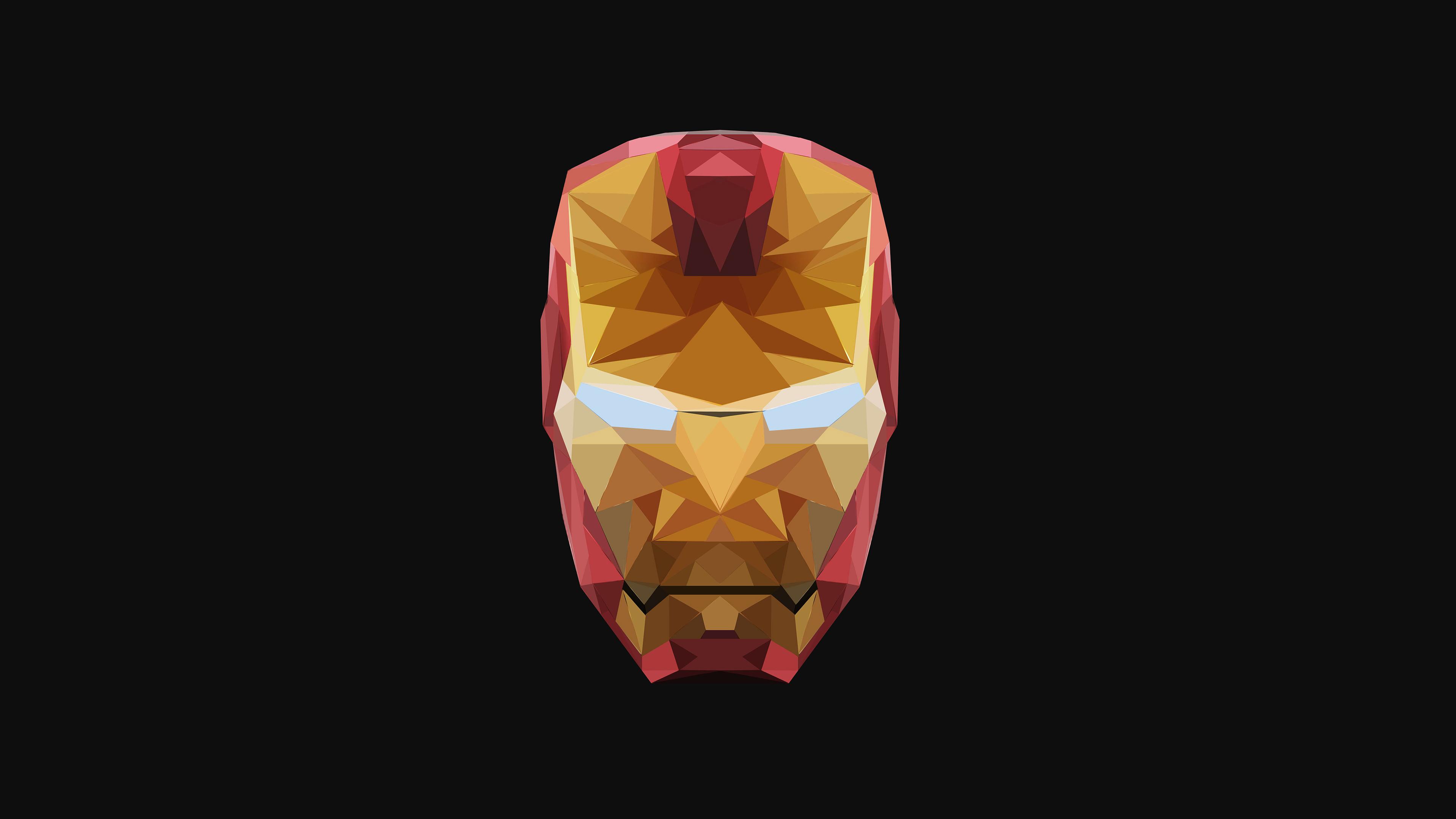 Wallpaper 4k 4k Iron Man Low Poly 4k Wallpapers Behance