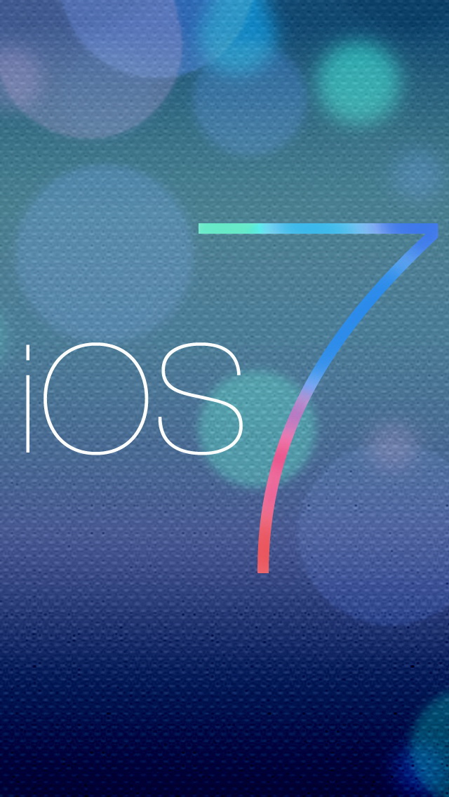 Ios 7 Logo With Halos Iphone 7 Wallpaper For Mobile