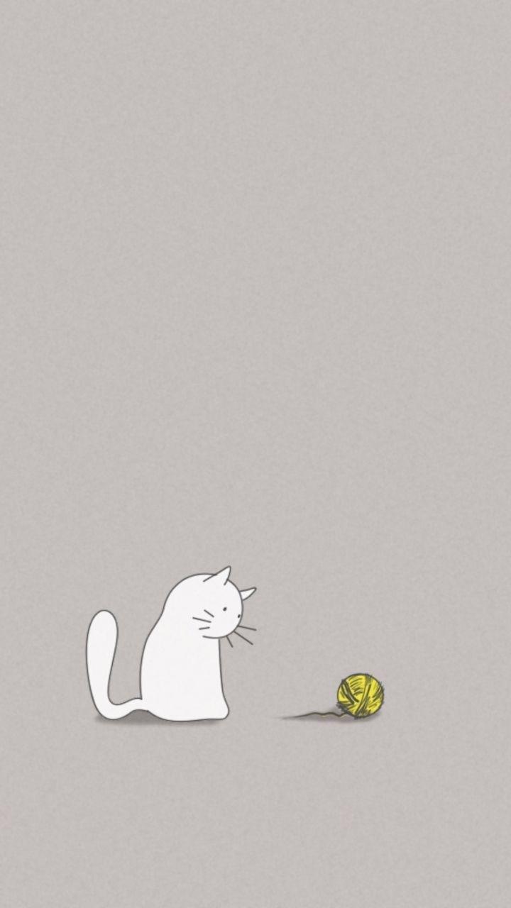 beautiful cartoon cat wallpaper iphone