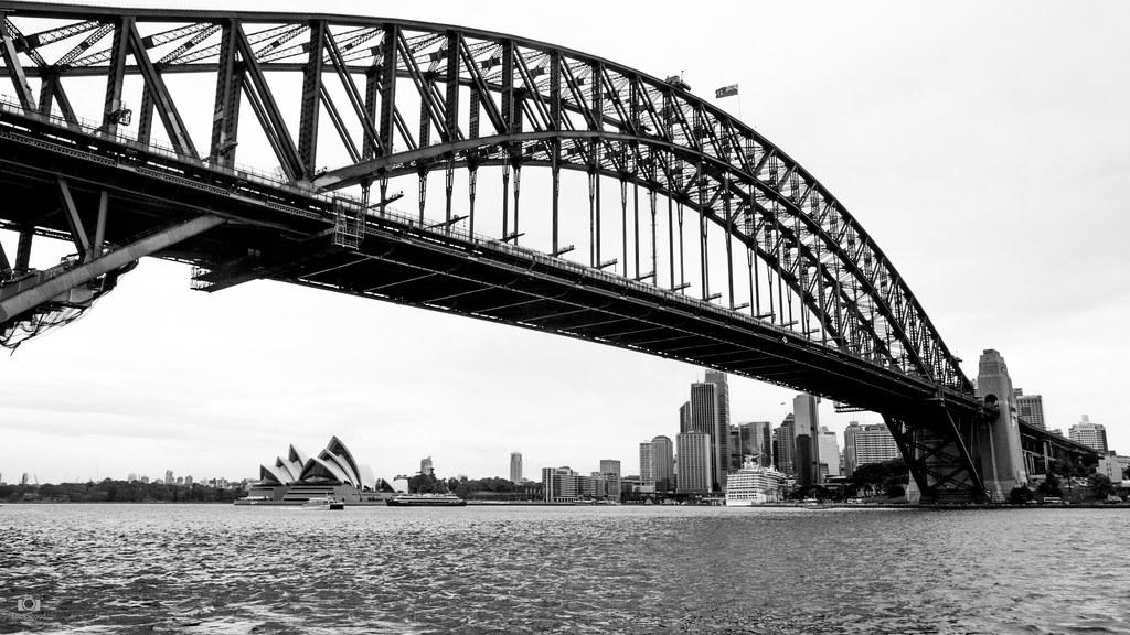 Sydney Opera House And Harbour Bridge Black And White Sydney Harbour Bridge 855223 Hd Wallpaper Backgrounds Download