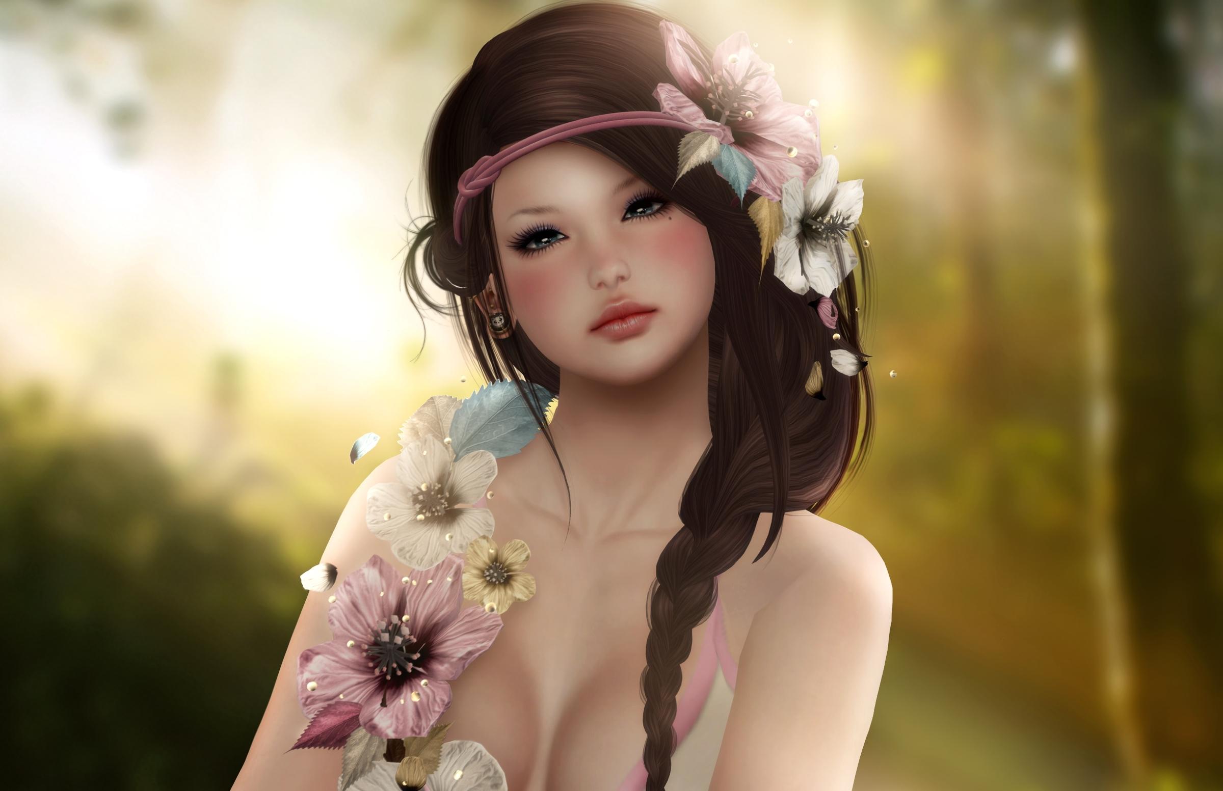 Cute Young Fantasy Teen Girl Wallpaper - Beautiful Women Fantasy Art , HD Wallpaper & Backgrounds