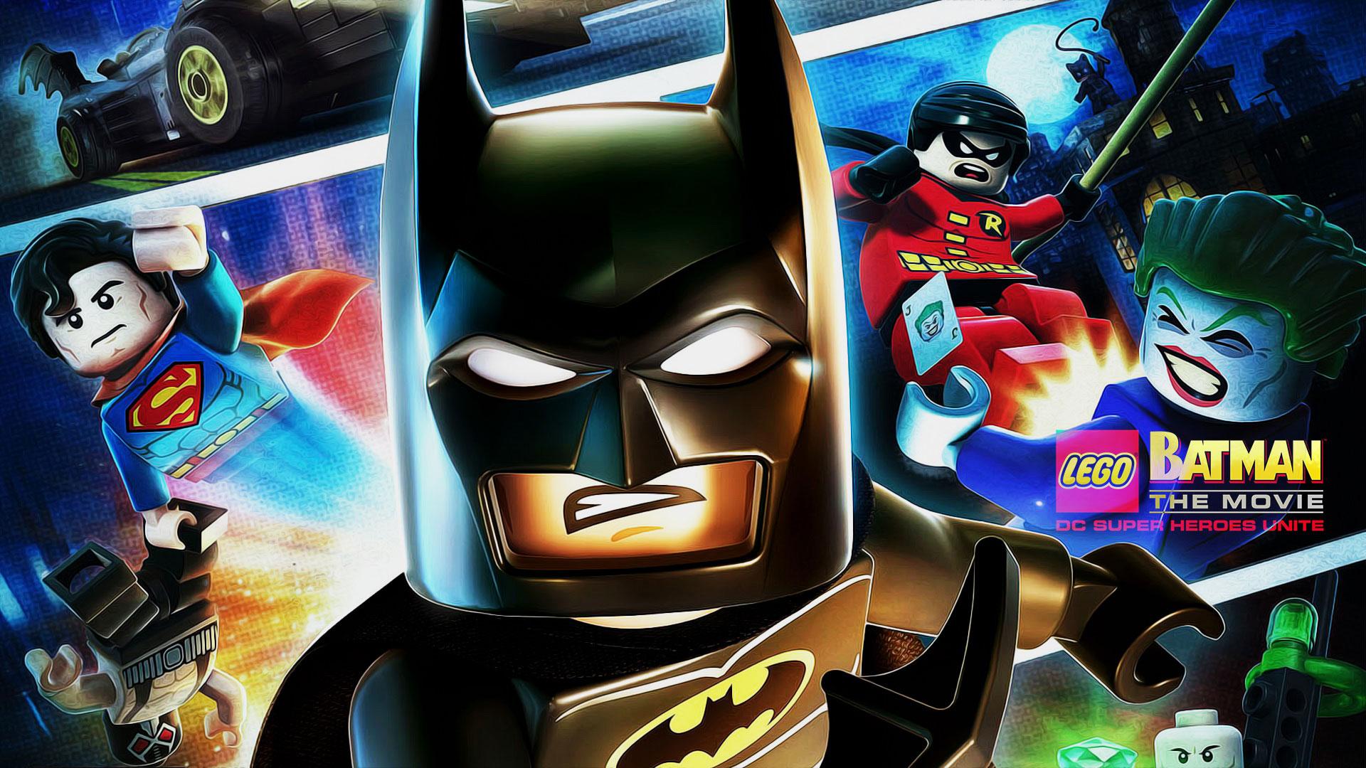 The Lego Batman Movie Wallpaper - Lego Batman Dc Super Heroes 2 , HD Wallpaper & Backgrounds