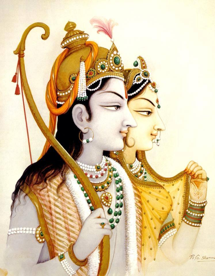 Jai Shree Ram Ji Wallpaper - Sita Ram , HD Wallpaper & Backgrounds