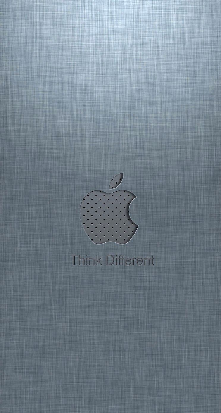 Iphone 5 Wallpaper Apple Logo Parallax Think Different
