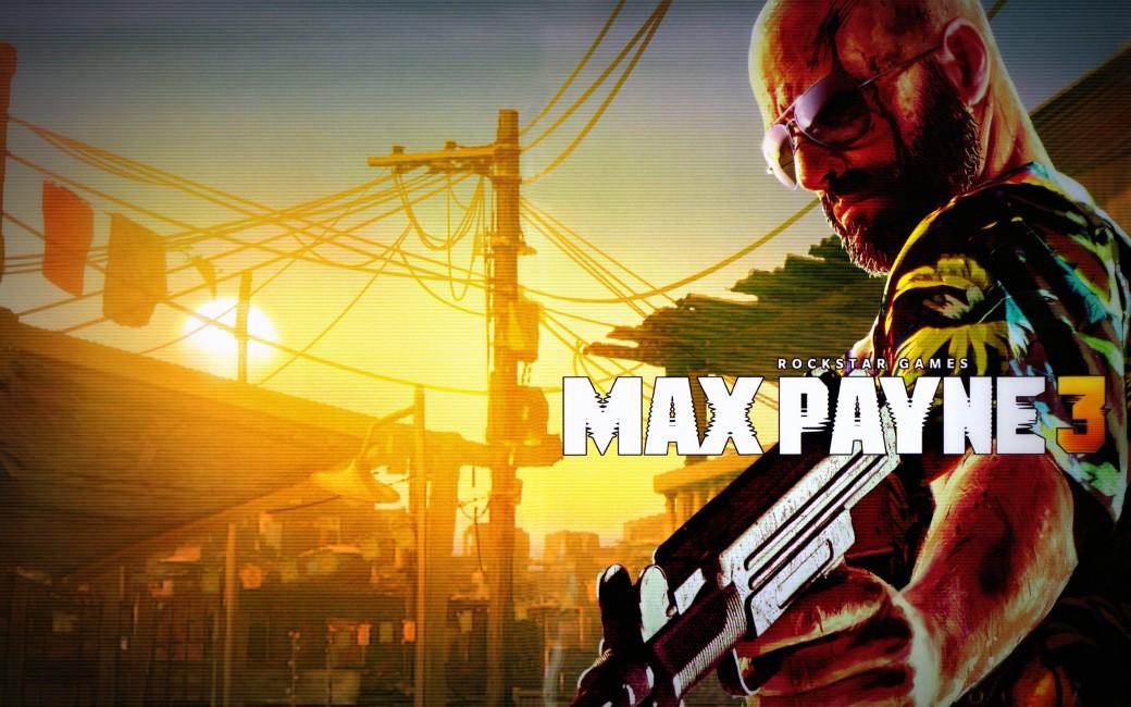 Max Payne 3 Weapon Pistol Machine Gun Uzi Bald Glasses - Max Payne 3 Wallpaper Logo , HD Wallpaper & Backgrounds