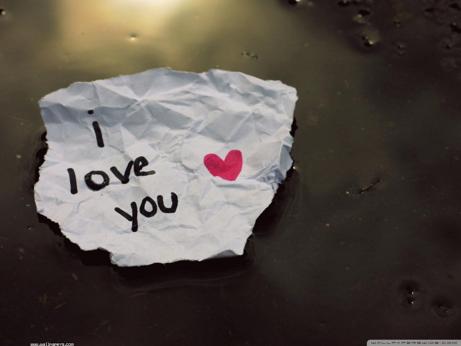 Download I Love You Message Wallpaper Wallpaper For - Love Wallpapers For Desktop , HD Wallpaper & Backgrounds