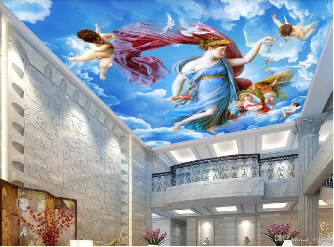 3d Ceiling Murals Wallpaper Custom Photo Non Woven - Living Room 3d Wall Painting Design , HD Wallpaper & Backgrounds