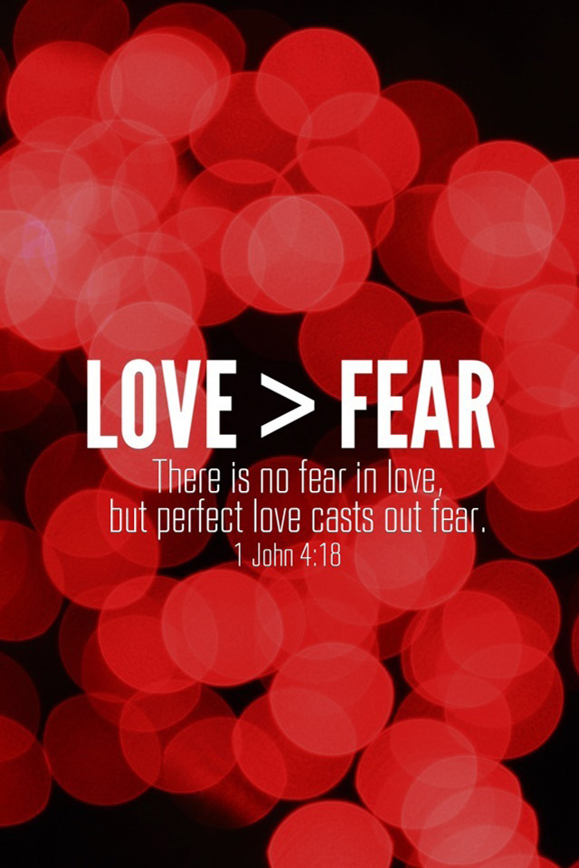 Love Fear 1 John 4 18 Red Bible Lock Screens Christian Red