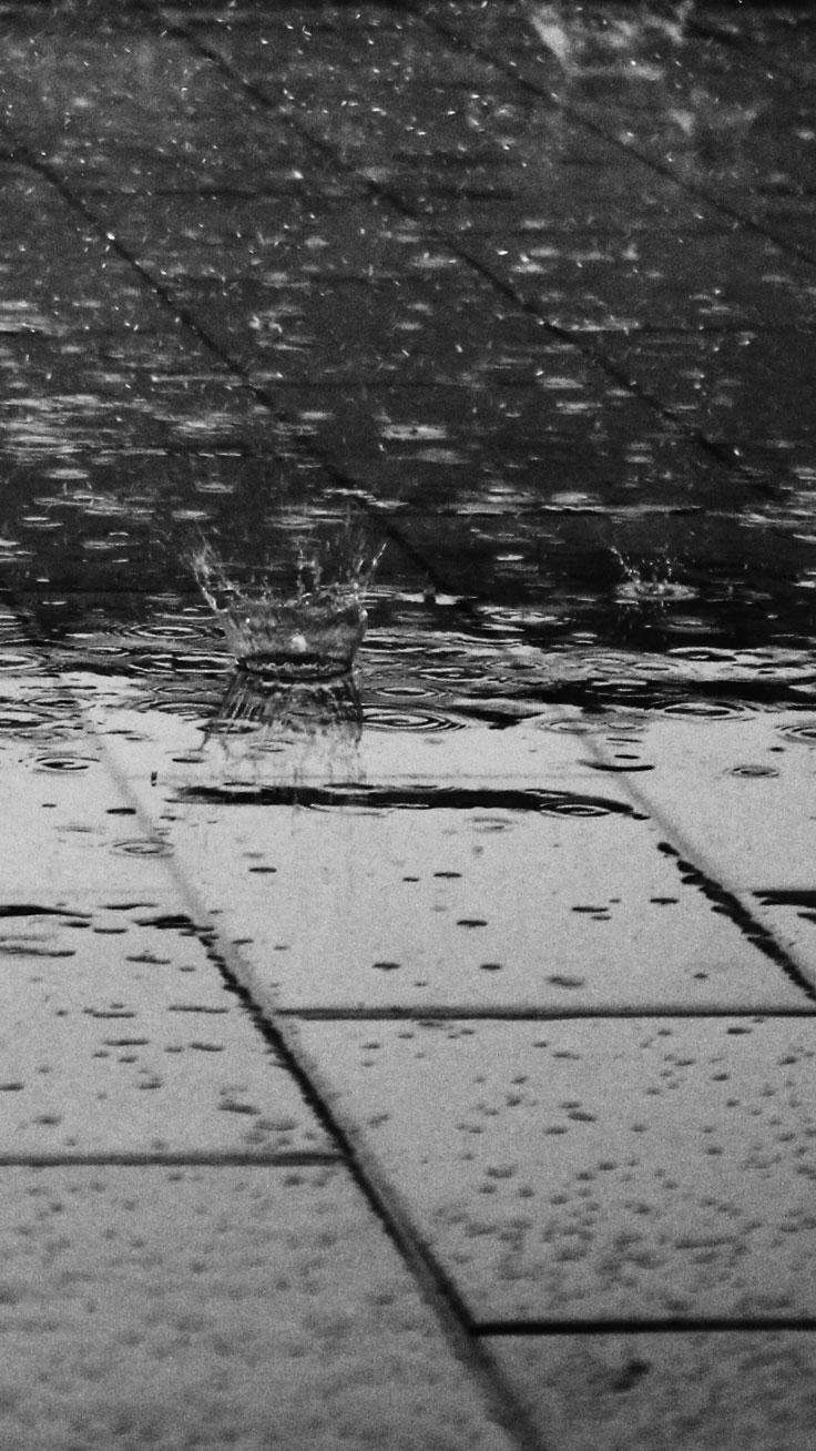 Rain ☆ Preppy Original 31 Free Hd Iphone 7 & 7 Plus - Black Wallpaper Rain 4k , HD Wallpaper & Backgrounds