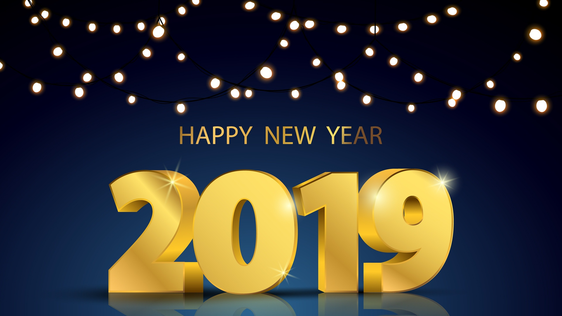 2019 New Year Background Wallpapers - New Year Background Images 2019 , HD Wallpaper & Backgrounds
