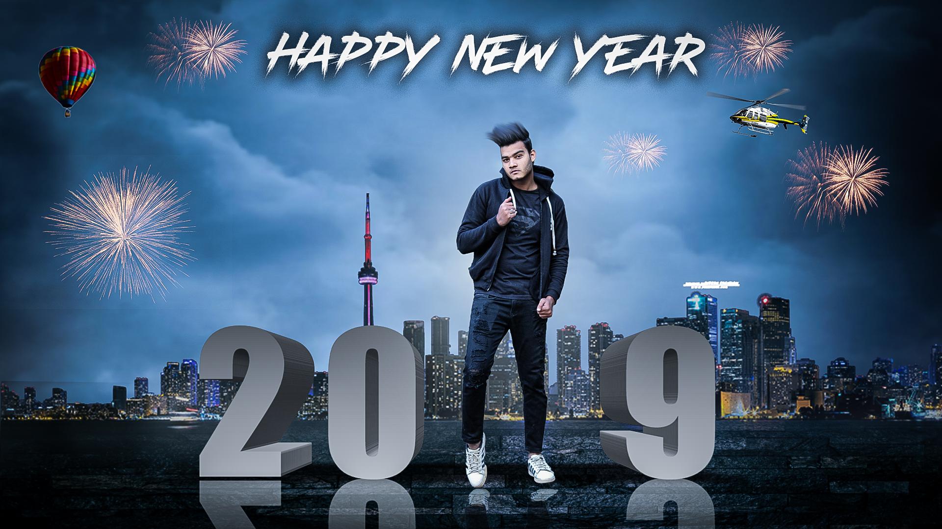 Happy New Year 2019 Photo Editing Background Download - Happy New Year 2019 Editing , HD Wallpaper & Backgrounds