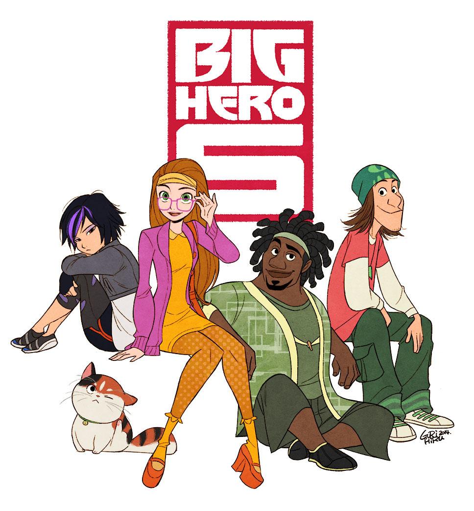Gogo Honey Wasabi And Fred Big Hero 6 880398 Hd