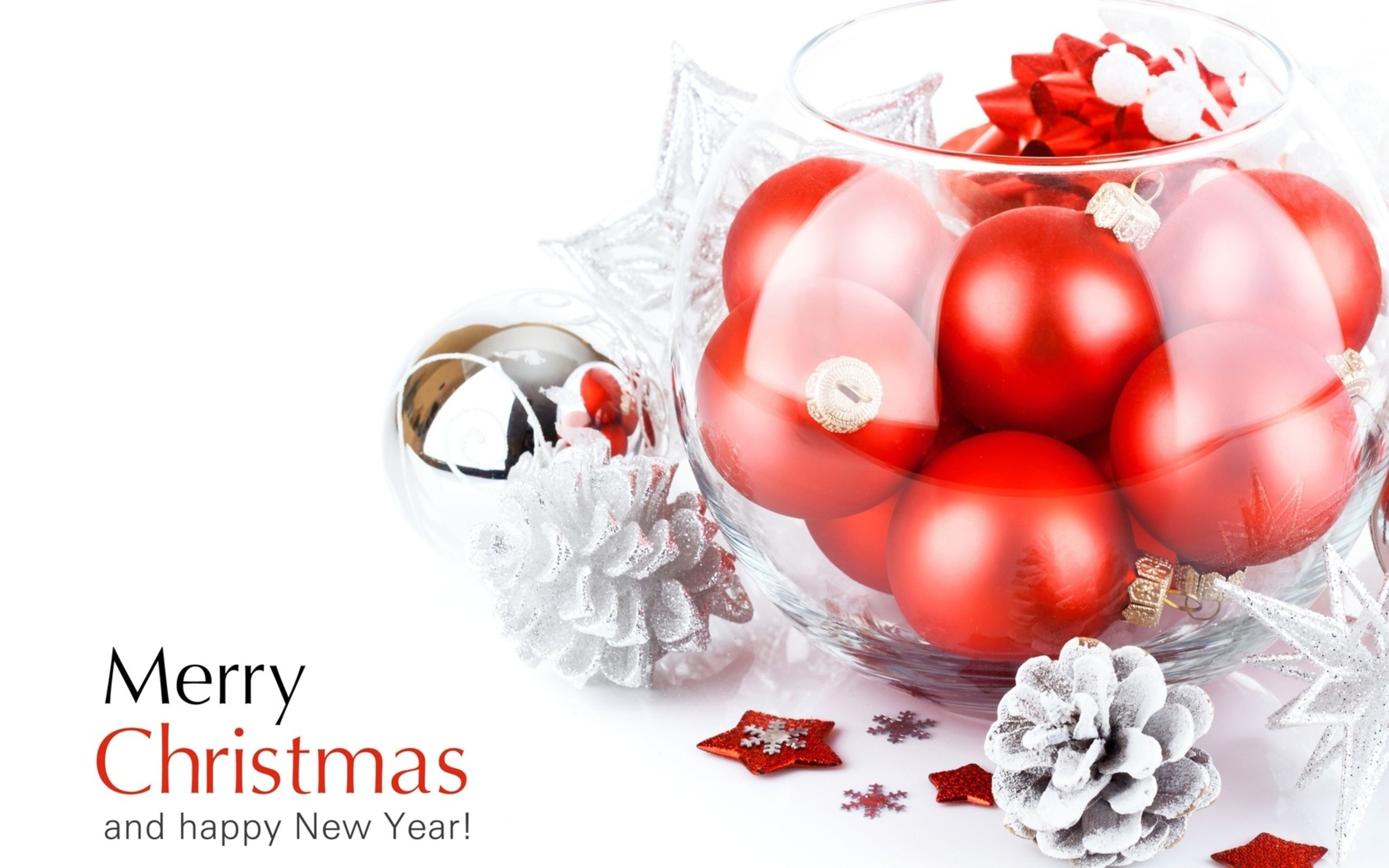 Windows New Year Wallpapers - Merry Christmas And Happy New Year With White Background , HD Wallpaper & Backgrounds