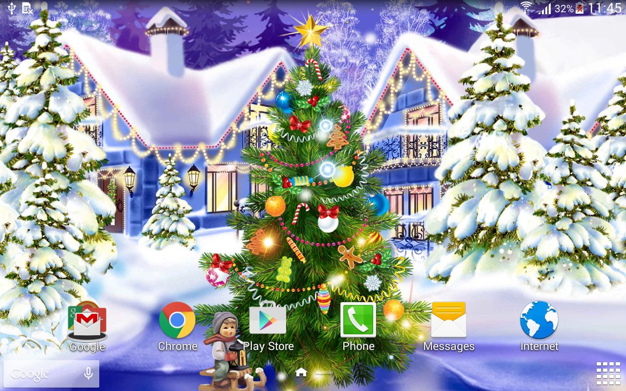 View Original Size Source - Christmas Live Wallpaper 2017 , HD Wallpaper & Backgrounds