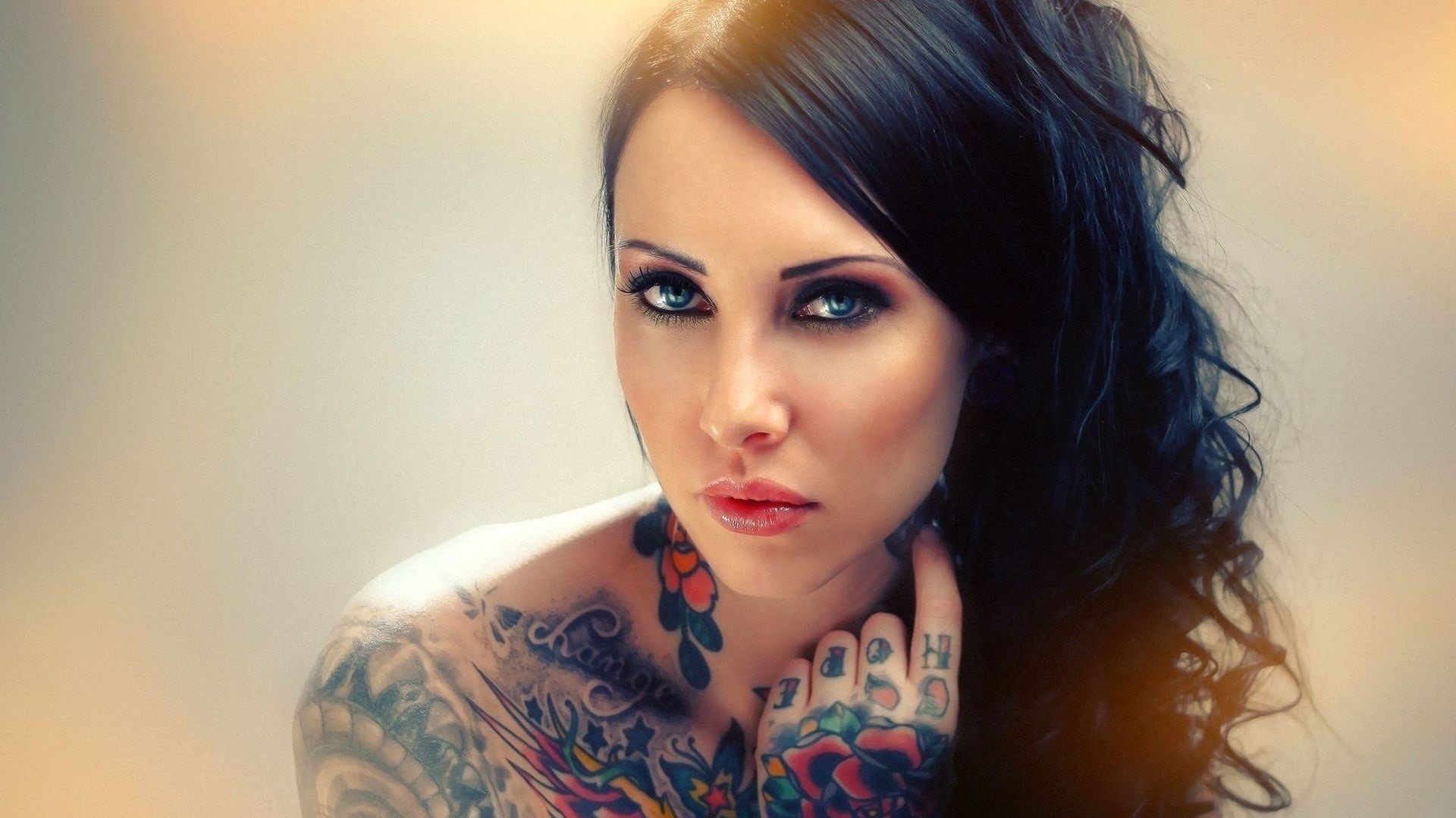 Blue-eyed Girl With A Tattoo On His Arm And Shoulder - Artbat Tabu Original Mix Fryhide , HD Wallpaper & Backgrounds
