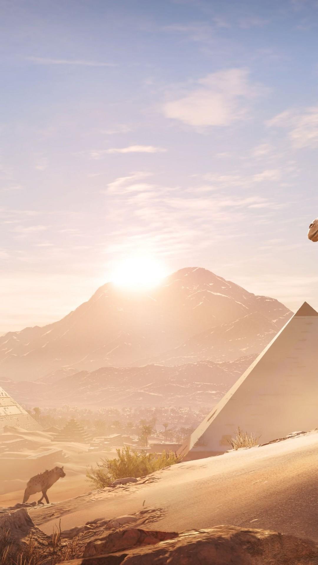 Assassins Creed Origins Egypt 4k Wallpaper - Assassin's Creed Origins Skull Icon , HD Wallpaper & Backgrounds