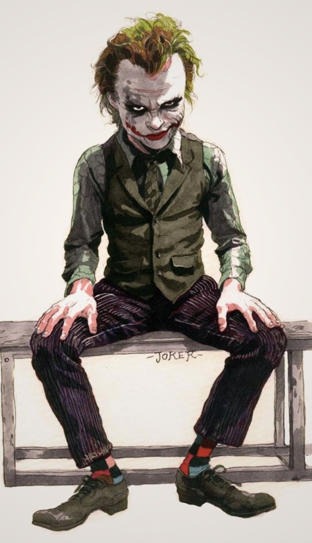 4k Wallpaper For Iphone 6s Plus - Dark Knight Wallpaper Joker Iphone , HD Wallpaper & Backgrounds