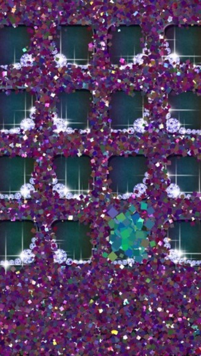 Iphone 5 Wallpaper Purple Sparkle Bling Diamond 887374 Hd