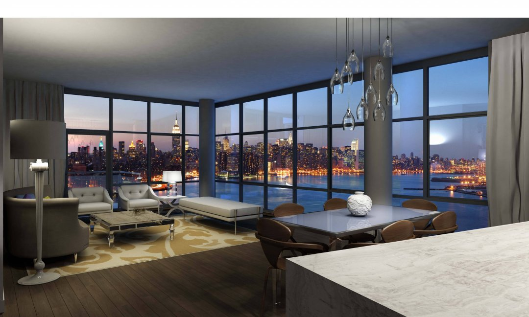 Wallpaper Designs For Walls Living Room Feature Wall - Apartments With City View , HD Wallpaper & Backgrounds