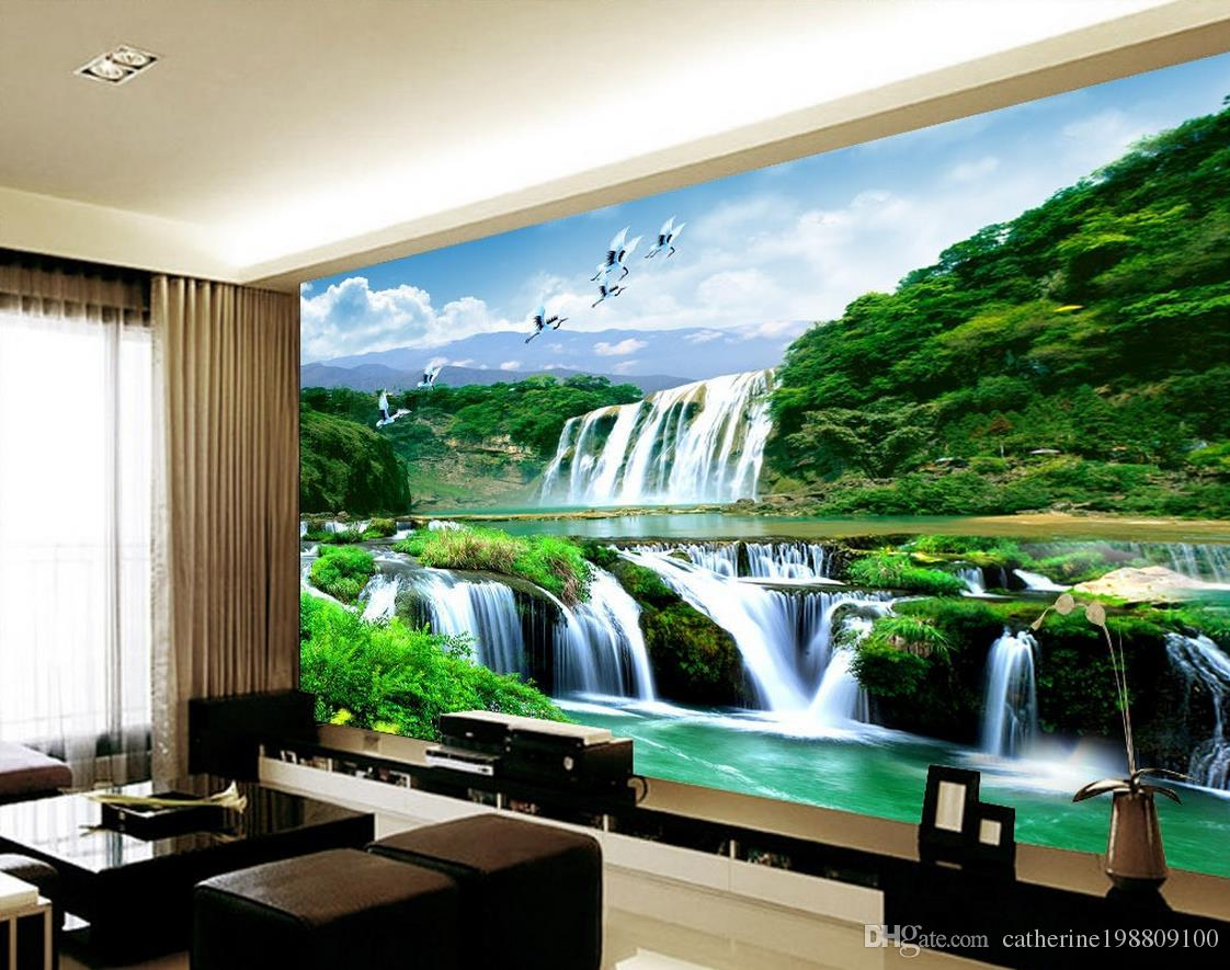 Custom Any Size Mural 3d Wallpaper 3d Wall Papers For - 3d Nature Wallpaper For Bedroom Walls , HD Wallpaper & Backgrounds