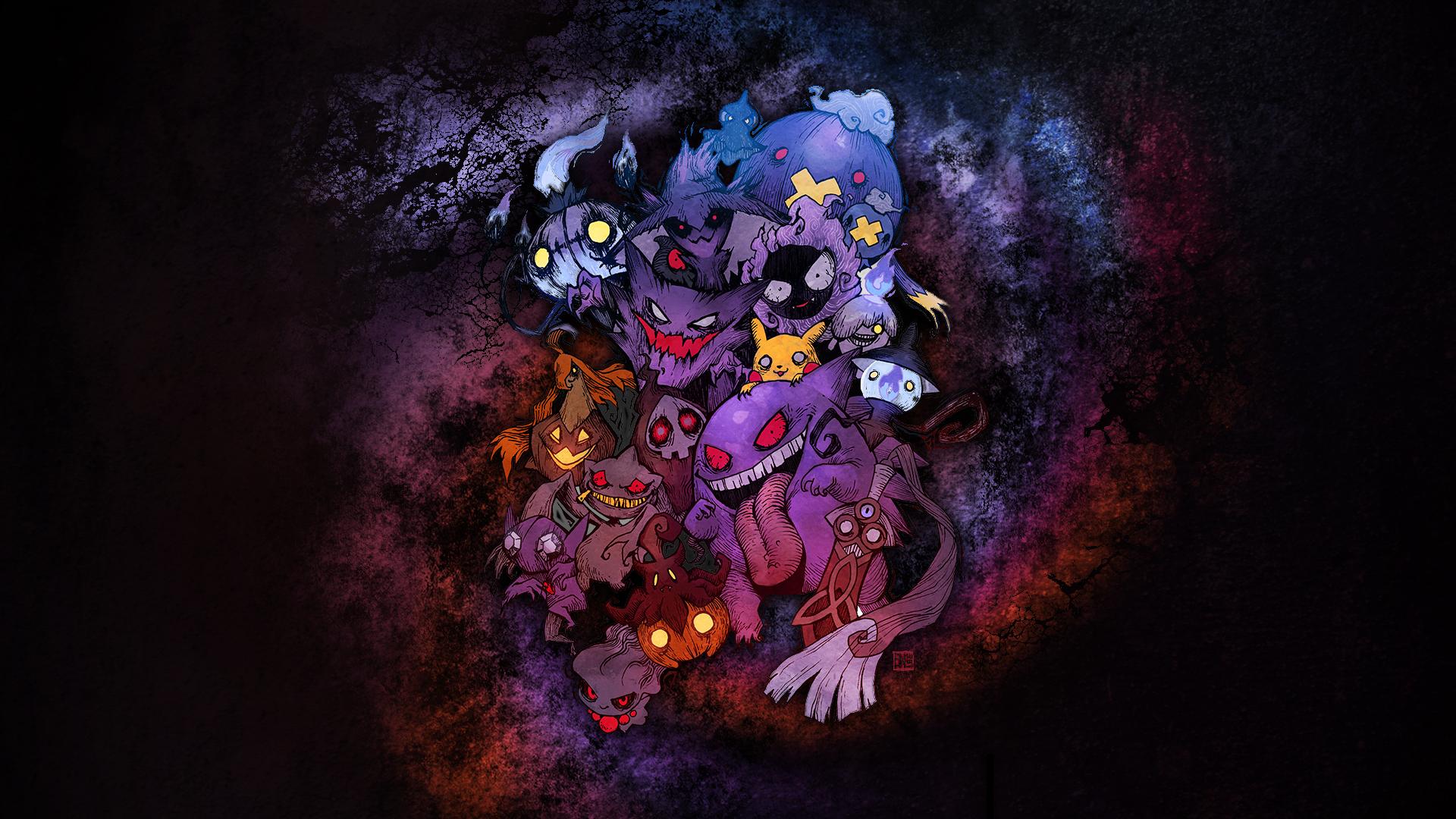 Scary Pokemon Wallpaper Ghost Pokemon Wallpaper Hd
