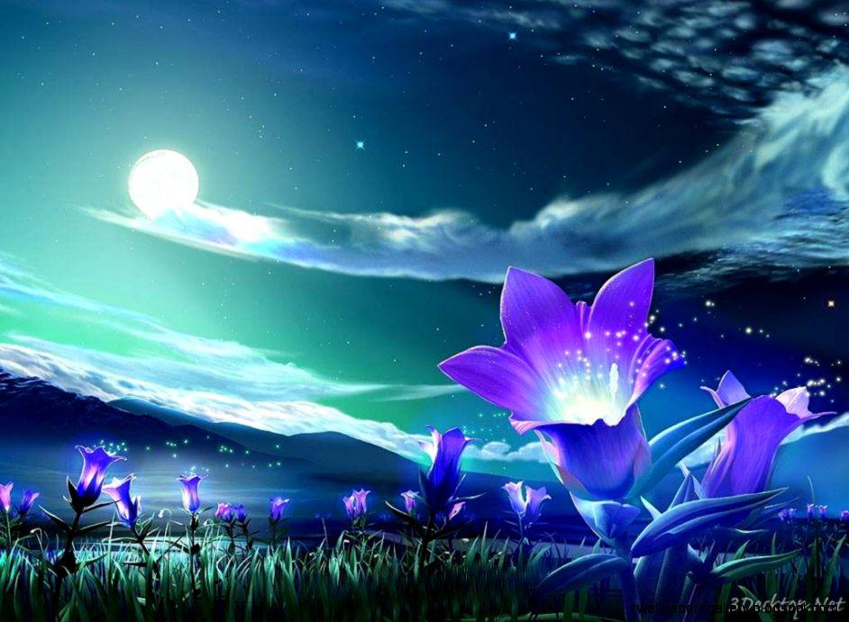 View Original Size - Purple Flowers , HD Wallpaper & Backgrounds