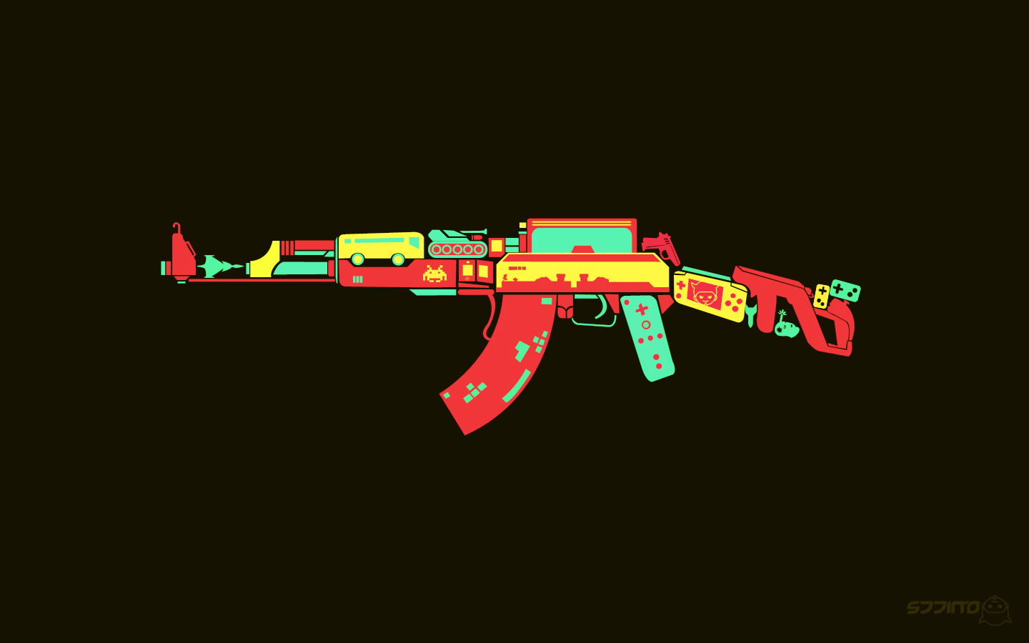 Gaming Controllers Wallpapers Mobile - Ak 47 , HD Wallpaper & Backgrounds