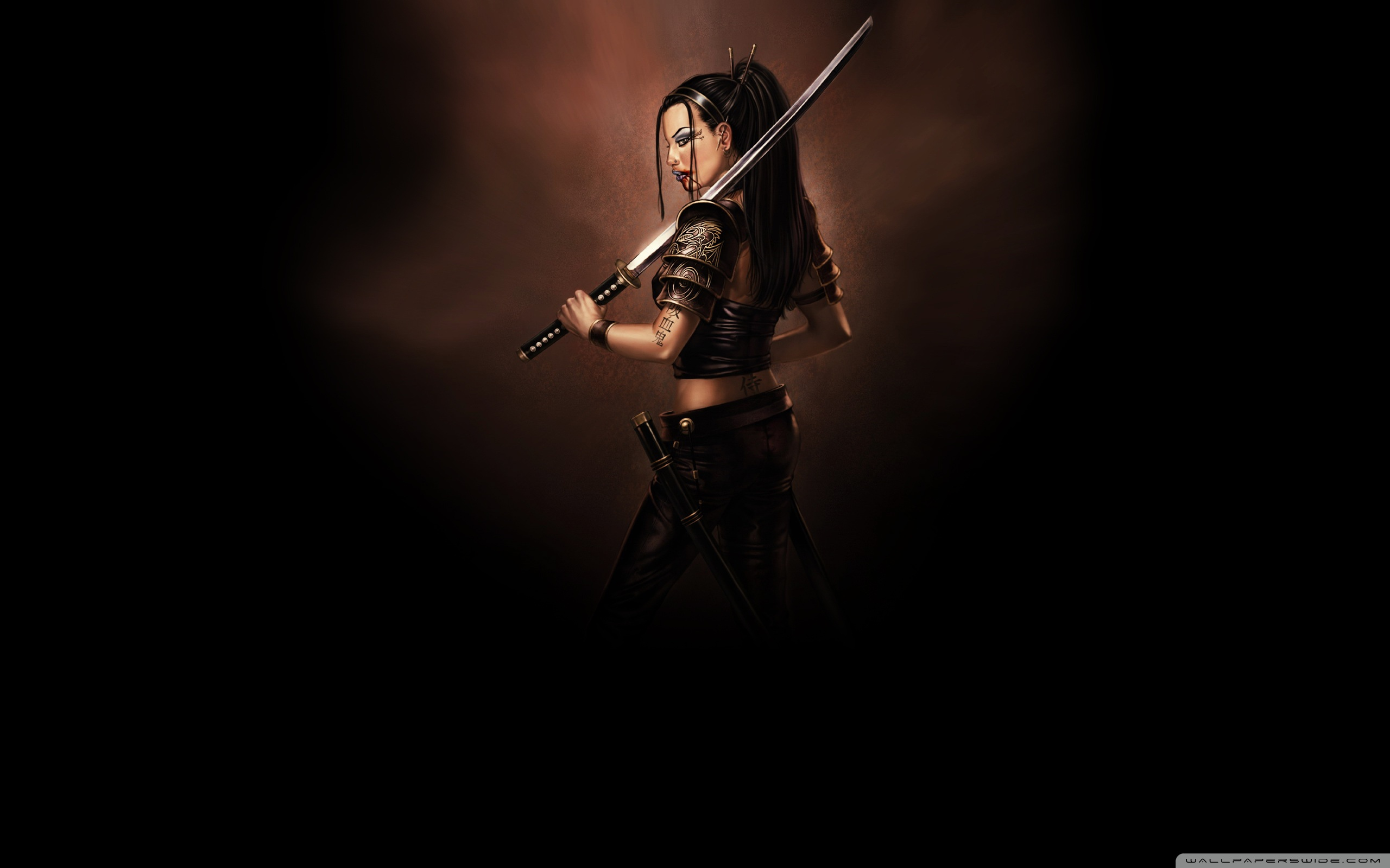 Related Wallpapers - Samurai Girl , HD Wallpaper & Backgrounds