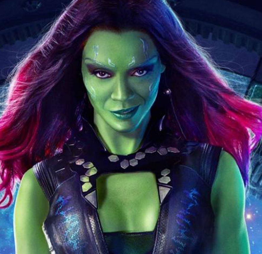 Headshot Movie Wallpaper Zoe Saldana Guardians Of The