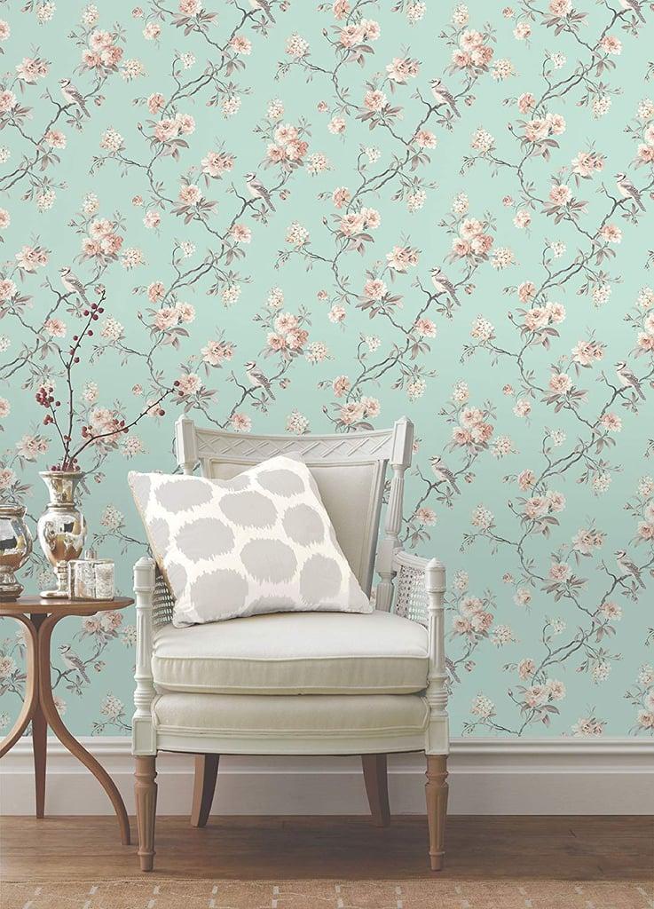 Fine Decor Chinoiserie Seafoam Floral Wallpaper Oboi V Bezhevyh