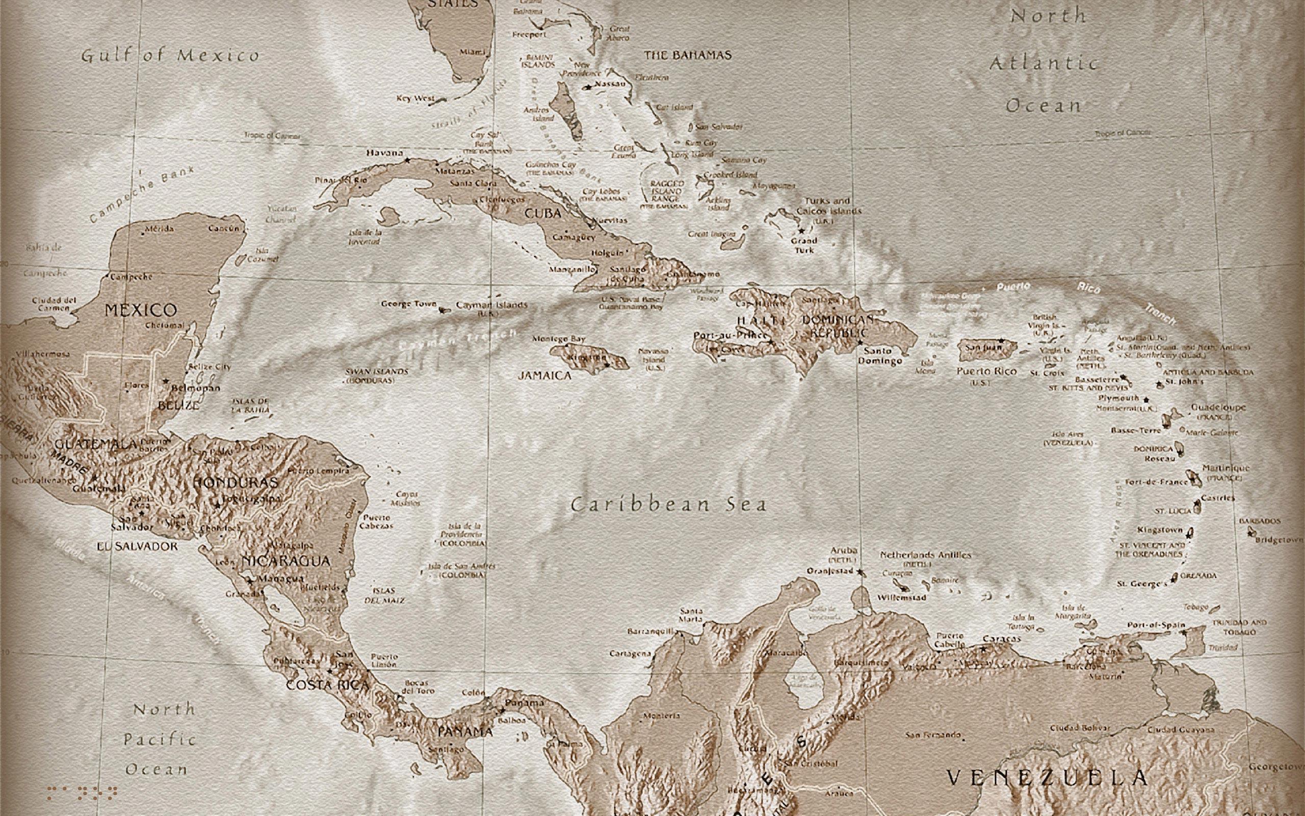 Caribbean Map Wallpaper Hd , HD Wallpaper & Backgrounds