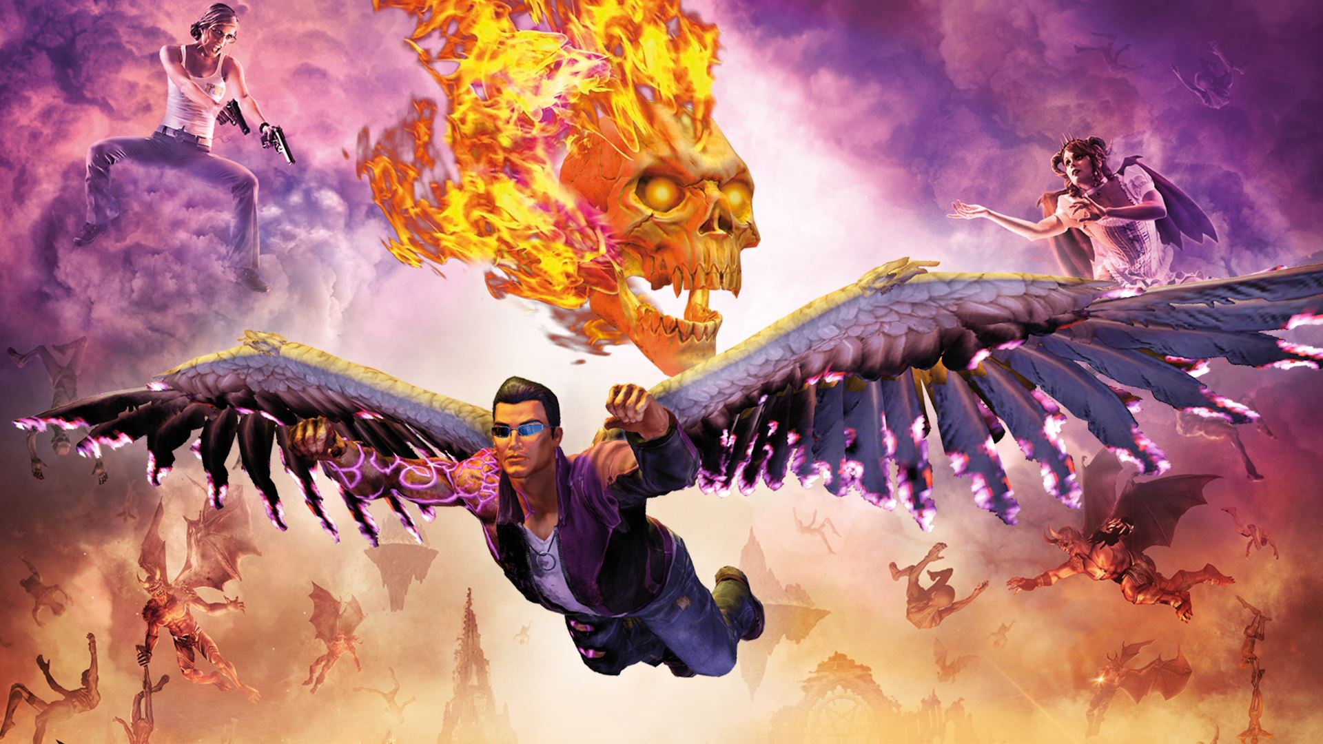 Gat Out Of Hell Hd Wallpaper Saints Row Gat Out Of Hell Devil S