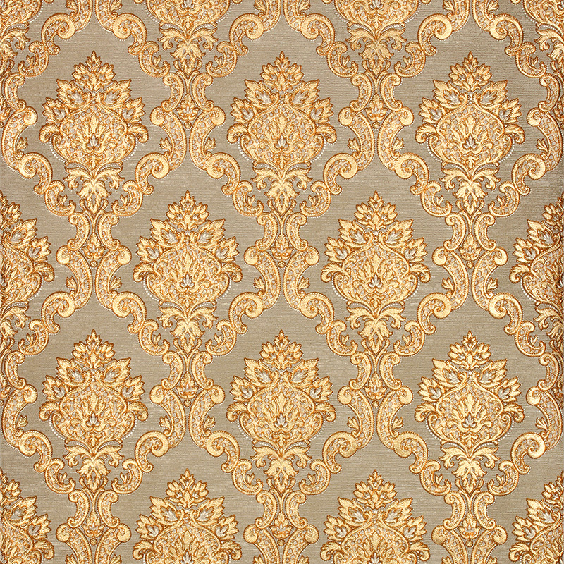 3d Gold Luxury Wallpaper 3d Damascus Mural Wall Paper