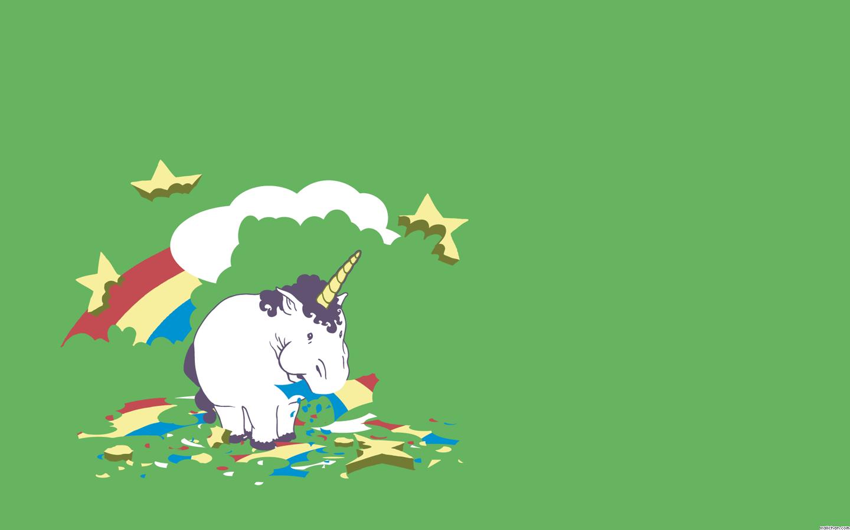 Unicorn Wallpaper - Unicorn Eating Rainbow , HD Wallpaper & Backgrounds