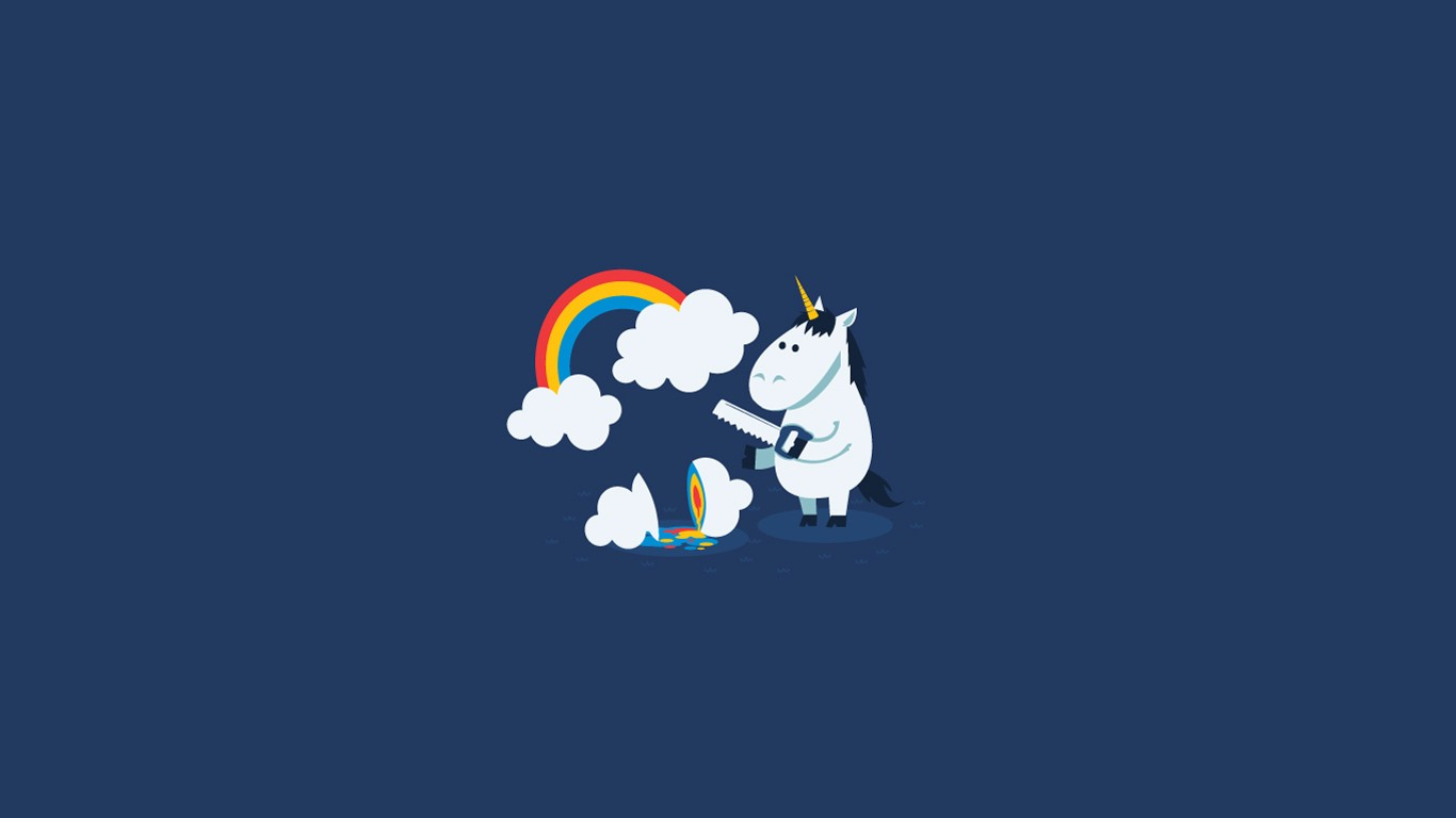 Funny Unicorn Wallpaper - Desktop Wallpaper Minimalist Unicorn , HD Wallpaper & Backgrounds