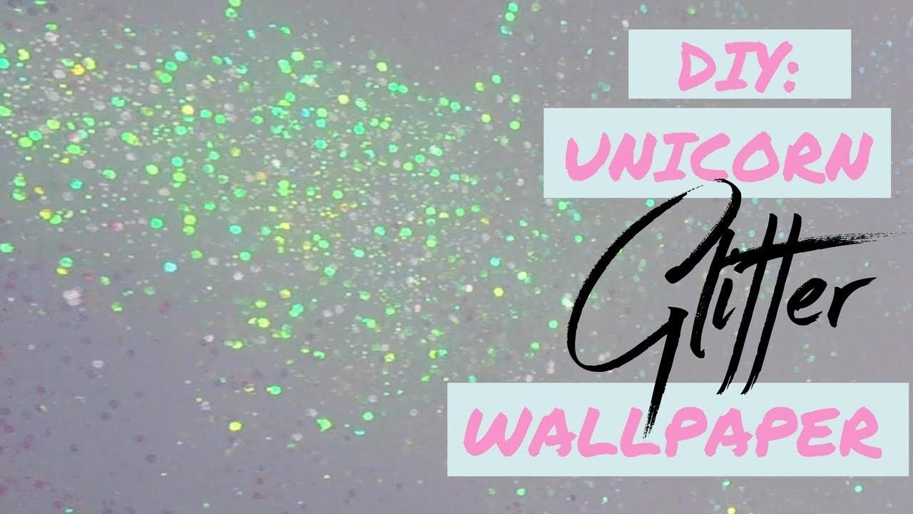 Diy Unicorn Glitter Wallpaper - Diy Unicorn , HD Wallpaper & Backgrounds