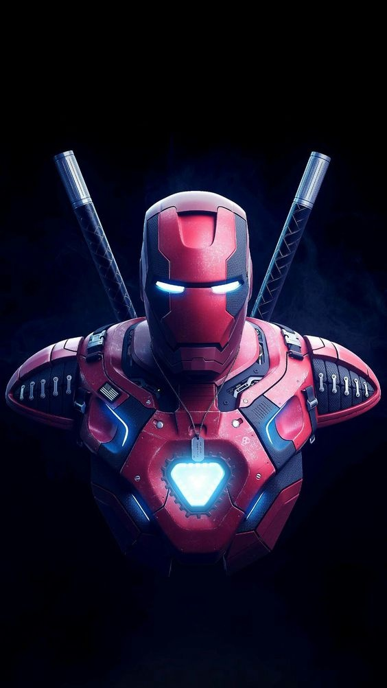 This App Have Very Good Collection Of Superhero Wallpapers - Deadpool Mix Ironman , HD Wallpaper & Backgrounds