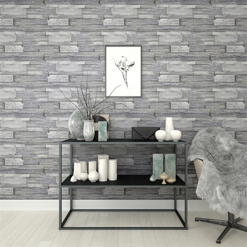 Superfresco Easy 52cm X 10m Stone Wall Grey Silver Grey Wallpaper Living Room 93754 Hd Wallpaper Backgrounds Download