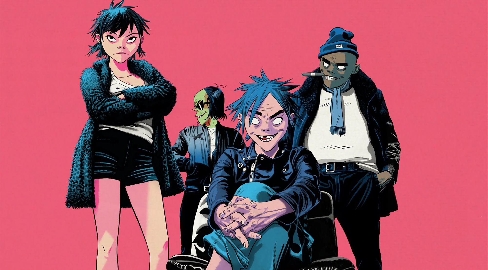 Gorillaz The Now Now 96308 Hd Wallpaper Backgrounds