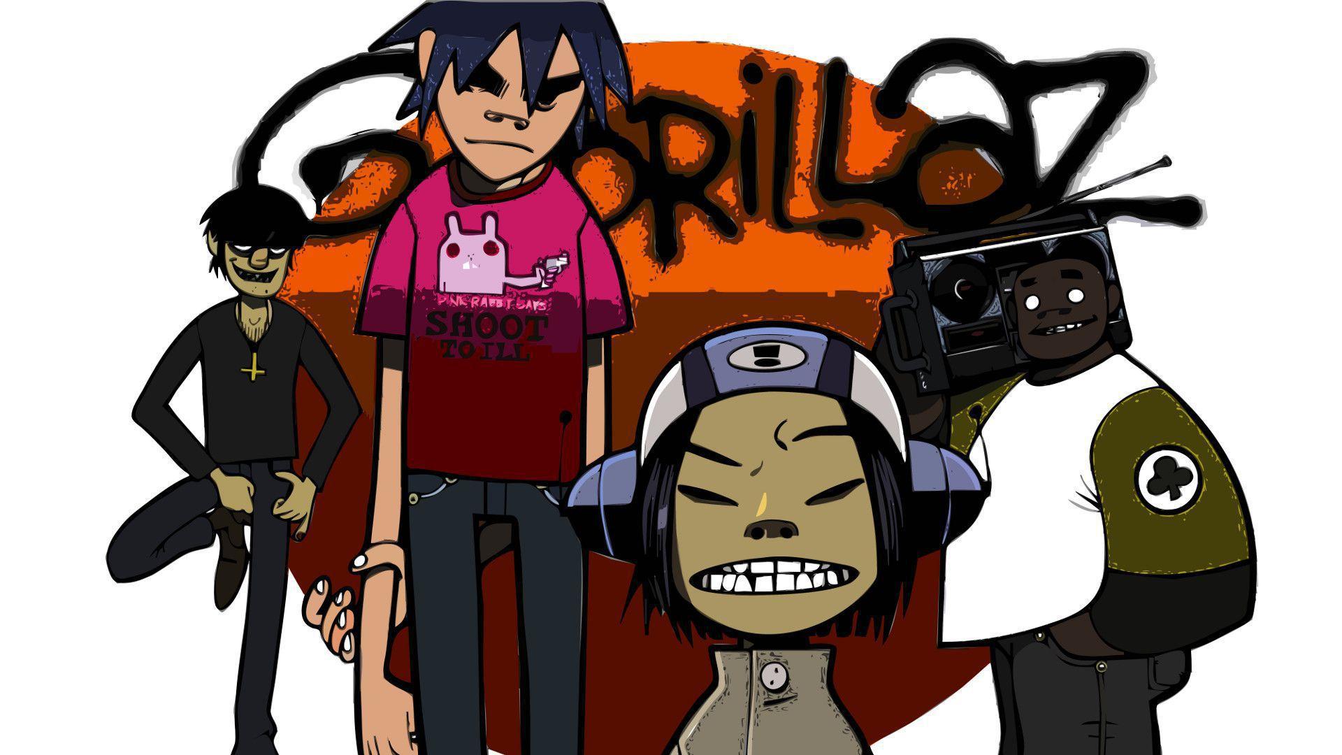 Gorillaz Wallpaper - Gorillaz Poster , HD Wallpaper & Backgrounds