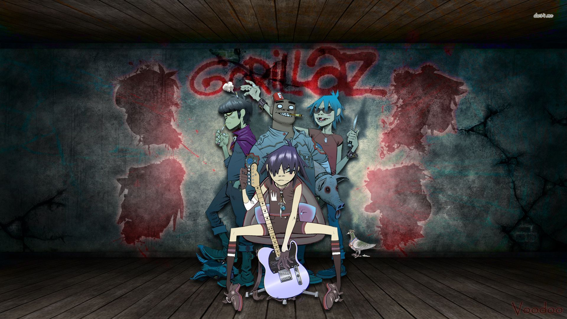 Gorillaz Wallpaper Gorillaz Hd Wallpaper 1080p 96708